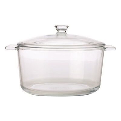 3.7 Litre Large Round Pyromax Tempered Glass Casserole Oven Proof Dish & Lid