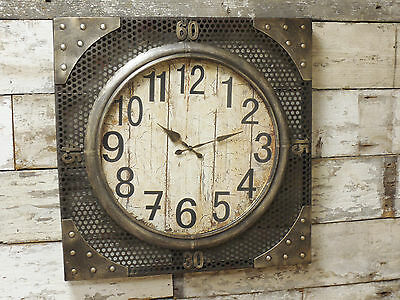 New Industrial Urban Warehouse Factory Station Wall Art Clock 70cm Extra Large