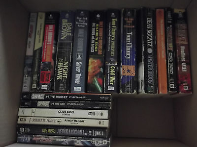 Action Thriller Book Lot--30 Soft Cover Books-Tom Clancy-Koontz-Dale Brown-+++