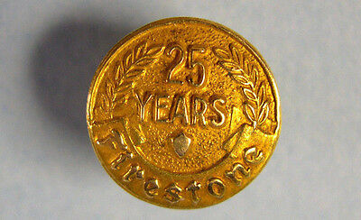 14K Yellow Gold FIRESTONE 25 YEARS Company Service Lapel Pin by MACO