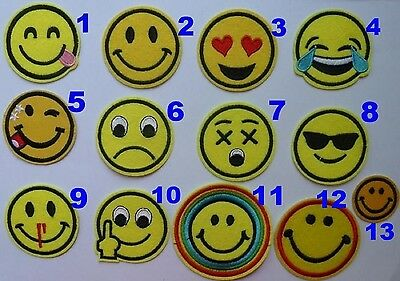 ❤️ Trend Patch Patches Aufnäher Bügelbilder Iron on emoji smiley smileys - NEU