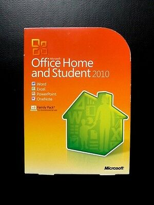 Microsoft Office 2010 Home and Student GENUINE Word Excel 79G-01900(NOT FAKE!)