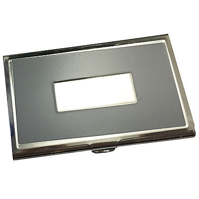 Aluminum Metal Business Card Holder Carrying Case Thin Light-Weight Silver NEW