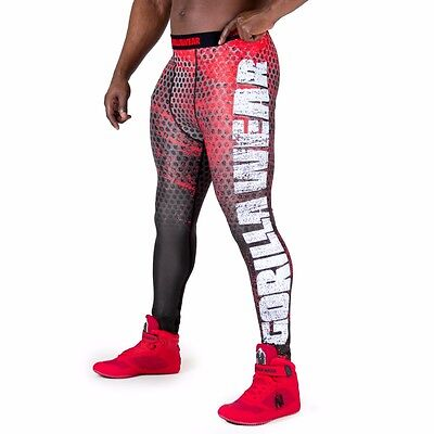 Gorilla Wear Bruce Men's Tights – Black/Red