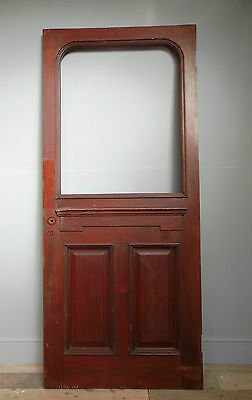 ANTIQUE LATE C19th  MAHOGANY ENTRANCE DOOR
