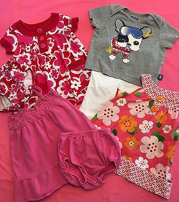 Lot of 7 Baby Girl Spring Summer Clothes Size 6 Months