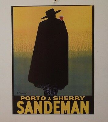 Porto And Sherry Sandeman 18X24 Vintage Poster