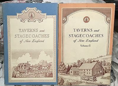Taverns & Stagecoaches of New England 2 books 1950's