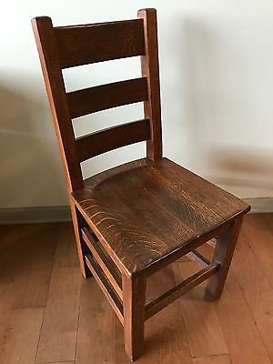 Antique Mission Oak single Chair - Arts and Crafts kitchen side