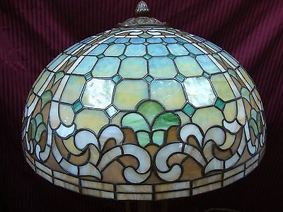 Stunning Williamson Leaded Glass Lamp w/ Rare Paw-Footed Quadrafoil Adj. Base