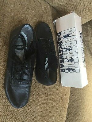Barrett Dance Wear Shoes Black Size 7 1/2 7.5 Leather Great Condition!