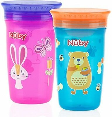 Quality Nuby 360 Degree No Spill Cup, Maxi, Pack Of 2 New Free Ship *