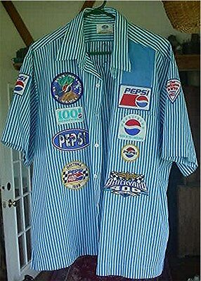 Pepsi Cola Delivery Person`s Shirt W/ Patches