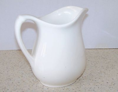 vintage white ironstone milk/cream pitcher, collectible, 6 inches tall