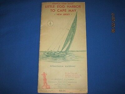 Nautical Chart 826-SC Little Egg Harbor to Cape May New Jersey