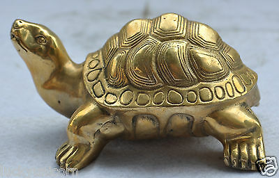 13.5cm China's lovely little turtle statue of copper