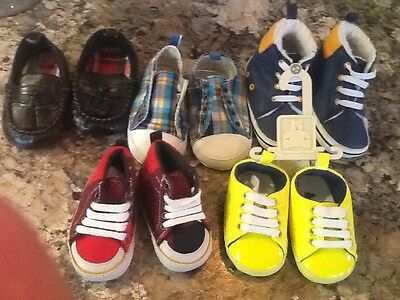lot of baby boy shoes. size 0-3. mostly new. gap, gymboree, old navy, carters