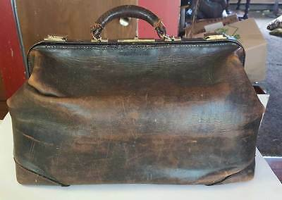 Vintage Doctors Leather Bag Brown Medical