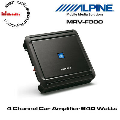 Alpine MRV-F300 - 4/3/2 Channel Car Amplifier 640W Speaker Amplifier Bridgeable