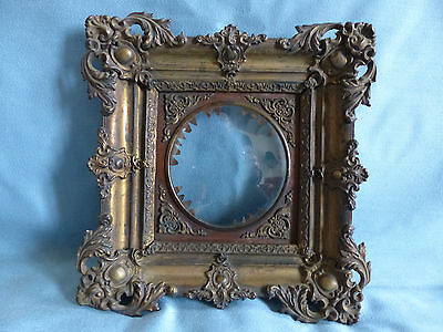 SUPERB & RARE ANTIQUE 19th C. BRASS and COPPER PICTURE MINIATURE FRAME 1880's N1