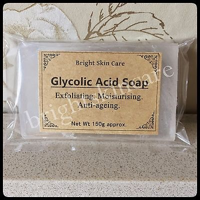 Glycolic Soap Skin Bleaching Lightening Soap Peel Acne Scars Wrinkles
