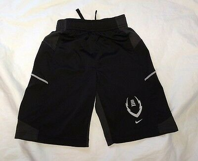 Nike  Youth S Small Black/grey Athletic Shorts Basketball Football Soccer