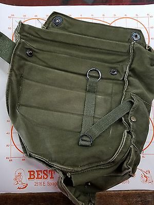 Us Military Vintage Vietnam Era Gas Mask Bag M17A1 Used Canvas