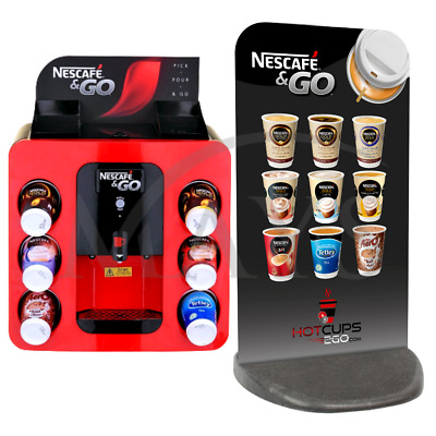 Nescafe &go Dispenser Hot Drinks Vending Machine + Pavement Sign - Express Del