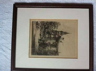 Framed Print Of A Cambridge College