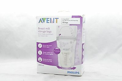 Philips Avent Breast Milk Storage Bags Clear 50 Sachets 6 oz. *