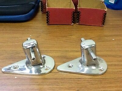 """Antique NOS Wilcox and Crittenden Boat CLEAT Tie Down,  """"Runabout Bitts"""" UNUSED"""