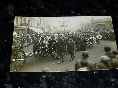 Military funeral photo postcard