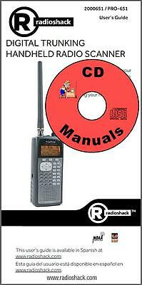 RadioShack PRO-651 CD OWNER'S MANUAL 2000-651 Radio Scanner Book on CD