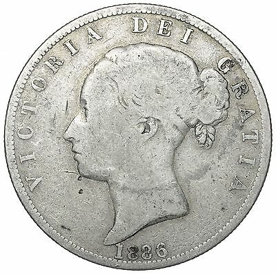 1886 Halfcrown - Victoria British Silver Coin