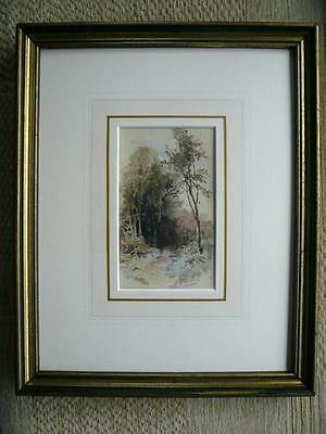 Hector Chalmers, Figure In A Wooded Landscape, Watercolour.