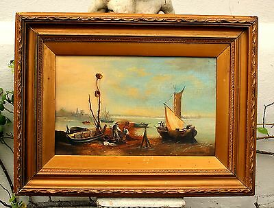 George Mears (1826-1906) Superb C19th Victorian Oil on Canvas - Low Tide