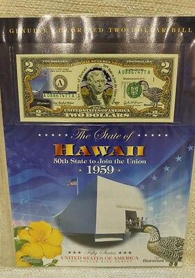 Hawaii $2 Two Dollar Bill Colorized Authentic Uncirculated 170139