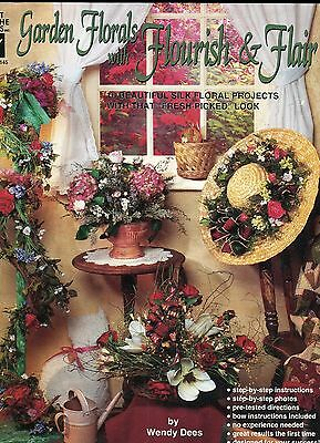 Garden Florals with Flourish Flair Decorator Booklet by Wendy Dees NEW