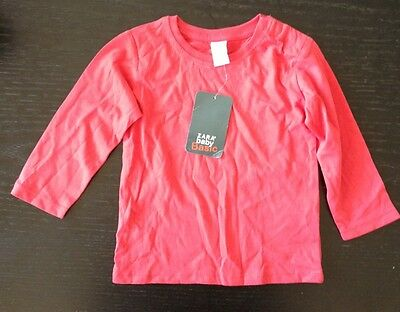 Zara Baby Basic Red Long Sleeve Top T-shirt Size 9-12 Months BNWT New