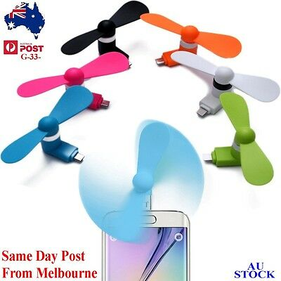 Portable Mini Fan Super Mute USB Cooler Cooling For Android phone Samsung HTC LG