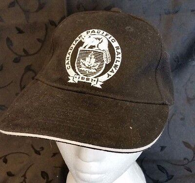 Canadian Pacific Railway Safety Smart Cap Hat Train Canada Flag Beaver Logo