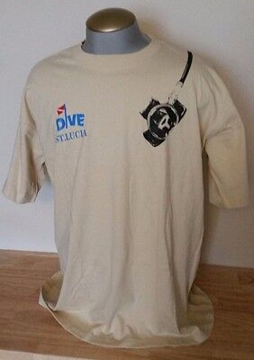 Piton Pilsner Beer St. Lucia Dive T-Shirt Xxxl New With Tags Hobie Tourist