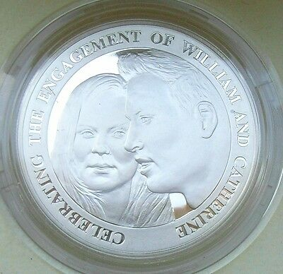 Alderney 2010 Silver Proof Five Pounds William & Kates Engagement in Case  COA