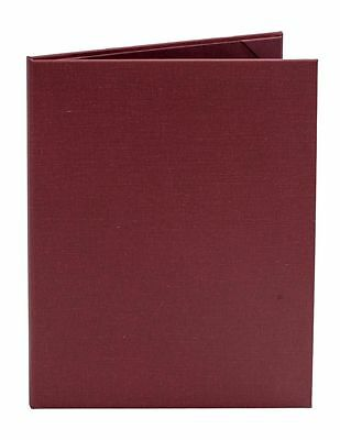 "(10pk) Burgundy Poly-Cotton Menu Covers, 2-panel, 8.5"" x 11"" insert"