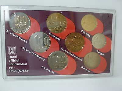 Coins of Israel Official Uncirculated Set 1985