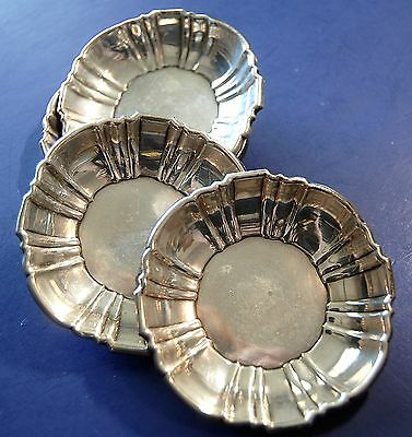 Sterling Silver Set of Four Butter Pats or Mint Dishes by Poole of Massachusetts