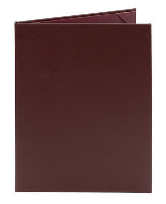 "(10pk) Maroon Faux Leather Menu Covers, 2-panel, 8.5"" x 11"""