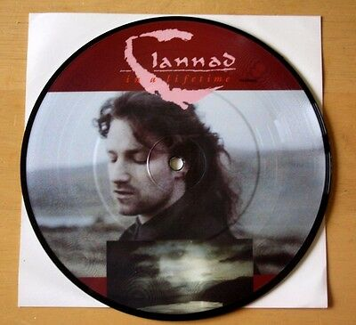 """As New! Bono (U2) And Clannad 1989 In  Lifetime  7"""" Vinyl Picture Pic Disc"""