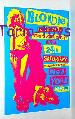 BLONDIE Debbie Harry - New York Usa 24 july 1976  - concert poster