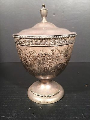 LARGE URN SUGAR GREEK KEY Bailey and Co Philadelphia Coin Silver